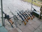 Some of the guns on the line