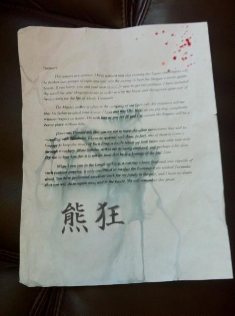 Yukinori Letter